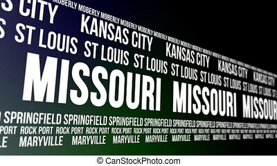 Missouri State Major Cities Banner - Animated scrolling...