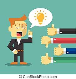 Businessman feedback