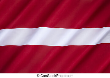 Flag of Latvia - used by independent Latvia from 1918 until...