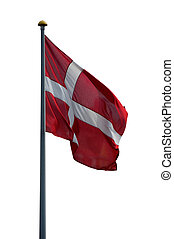 Danish flag isolated on white