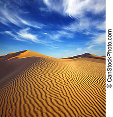 evening desert landscape - beatiful evening landscape in...