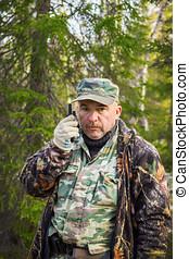 Ranger talking on radio