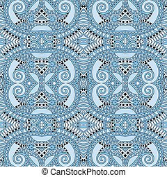 seamless geometry vintage pattern, blue colour ornamental...