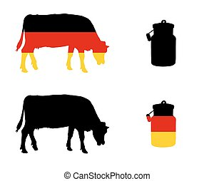 German milk cow
