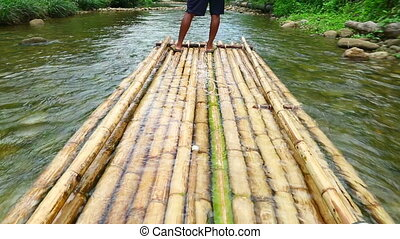 Bamboo rafting - Trip of Bamboo rafting in the tropical...