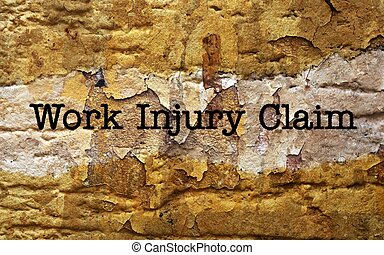 Work injury claim