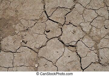 Crackled dirt