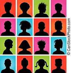 anonymous colorful avatars - 16 anonymous colorful avatars,...
