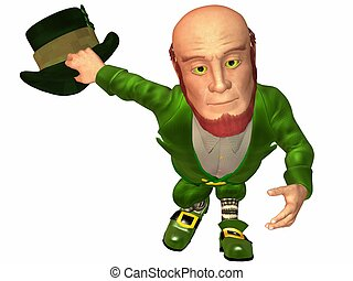 Toon Leprechaun - 3D Render of an Toon Leprechaun