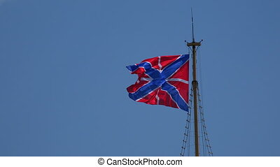 Flag of the Russian Navy 4K - Flag of the Russian Navy Shot...
