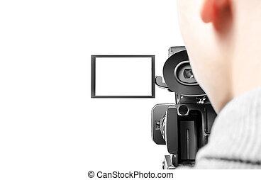 vídeo, operador,