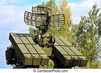 Anti-aircraft defense system - Containers with missiles and...