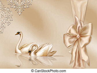 Elegant Card with Wedding Design