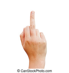 Middle finger, offensive gesture