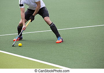 Field Hockey Pass - Field Hockey player, ready to pass the...