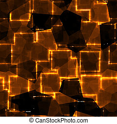 glass square tiles in fire - beautiful glass square tiles in...