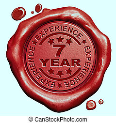 7, año, experiencia,