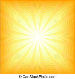 Square summer sun light burst - Square centered light burst...