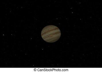 Jupiter Flyby. CG. ntsc
