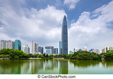 Shenzhen, China City Skyline - Shenzhen, China city skyline...