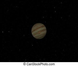 Jupiter Flyby. CG. pal