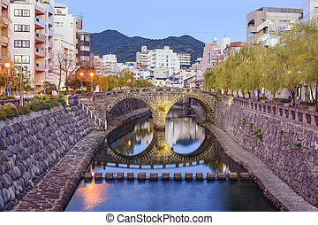 Nagasaki, Japan Cityscape - Nagasaki, Japan cityscape at...