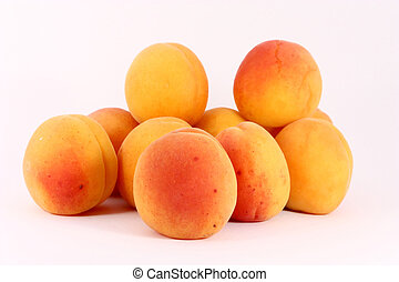 Fresh riped apricots - fresh riped colorful apricots