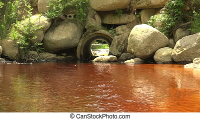 The river flows through a pipe 4K - The river flows through...
