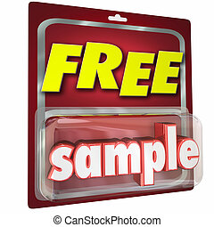 Free Sample Package Complimentary Trial Product Size Example...
