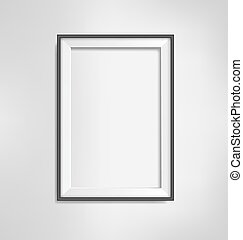 Black frame on grayscale background - Black simple modern...