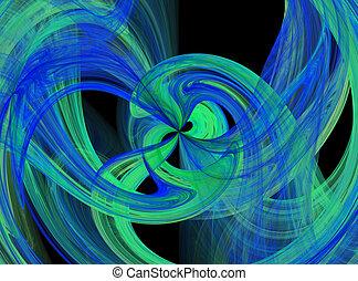 Flowing color burst