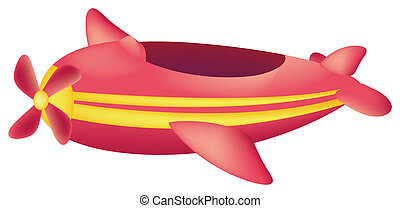 Red Zeppelin - An airship isolate  in the white background