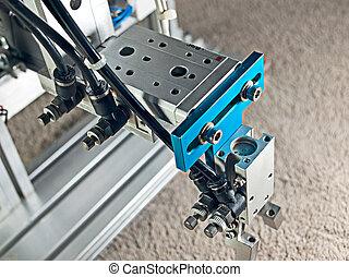Robot hand grip - Top view aluminum pneumatic robot hand...