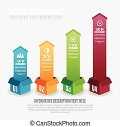 Outbox Infographic - Vector illustration of outbox...