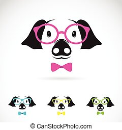 Vector image of a pig glasses on white background Fashion