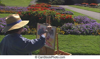 MS Garden Painter - MS of a painter at the Conservatory of...