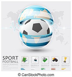 Global Football And Sport Infographic Design Template