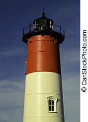 Nauset lighthouse - A view of the Nauset lighthouse in Cape...