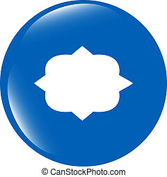Abstract cloud web icon button