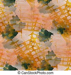 artwork artist yellow, dark blue palette picture frame graphic s
