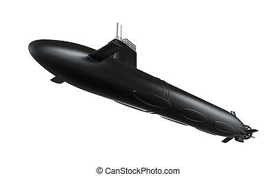 Black Submarine Isolated