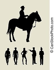 Police Silhouettes 02