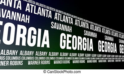 Georgia State and Major Cities - Animated scrolling banner...