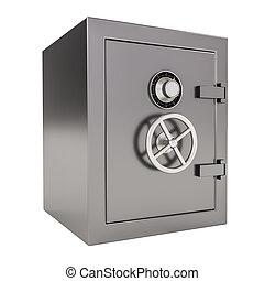 Bank safe - 3d illustration of closed Bank safe on white