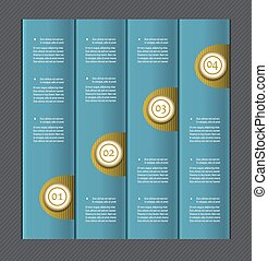 Paper numbered banners. Vector design template.