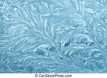 Frozen window - An ornament of frost on a window