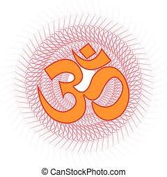 OM. - Spiritual OM symbol.