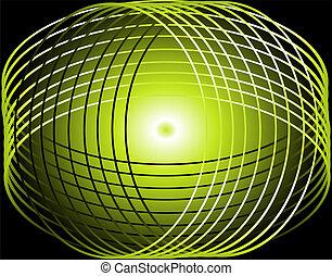 Dark green curve line background