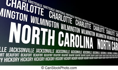 North Carolina State Major Cities - Animated scrolling...