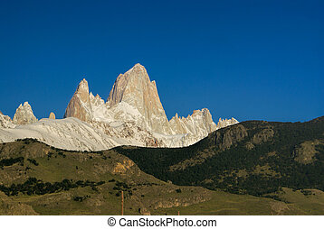 Los Glaciares National Park - Beautiful rocky slopes of...